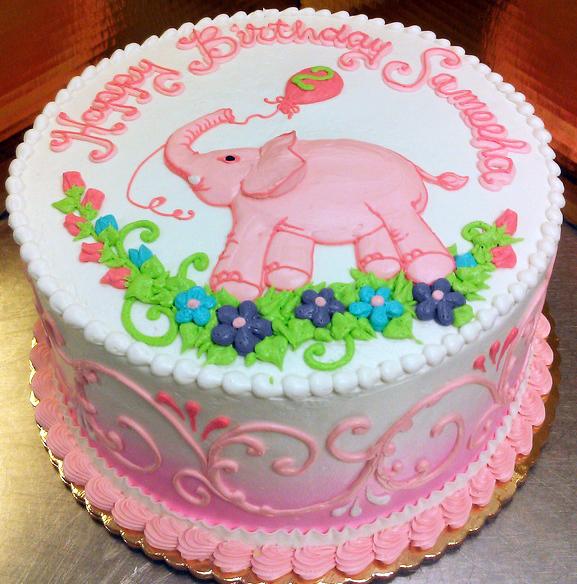 Girl Elephant/Baloon Cake