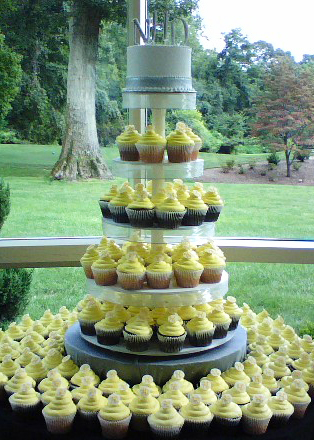Monogram Disc Cupcake Tower