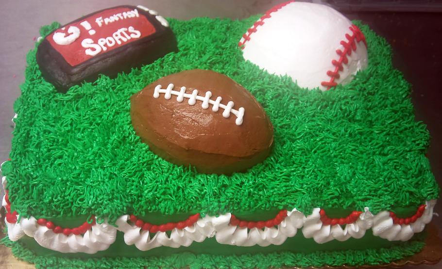 Sports Sculpted Multi-Theme Cake