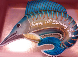 Adult Sculpted Marlin Cake