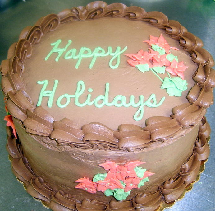 chocolate fudge holiday cake
