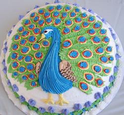 Girl Peacock Cake