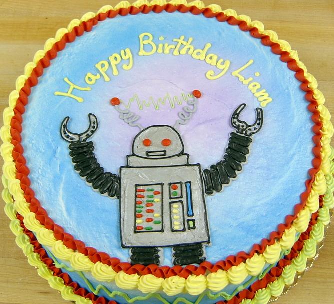 Boy Robot Cake