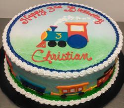 Boy Train Theme Cake