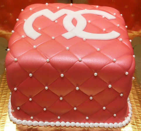 Adult Quilted Monogram Cake