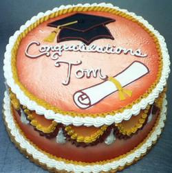 Graduation Cap and Scroll II Cake