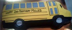 Boy Sculpted School Bus Cake