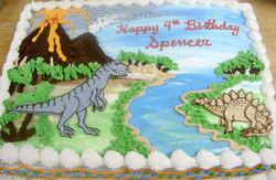 Boy Dinosaur/Volcano Cake