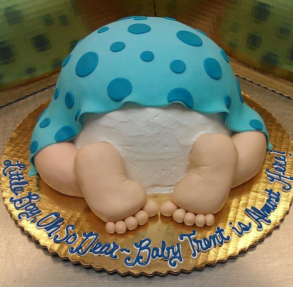 Baby Shower Sleeping Baby Bottom