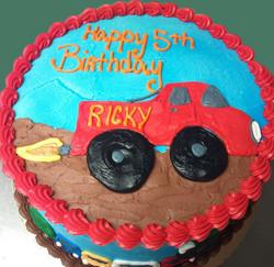 Boy Racecar Theme Cake