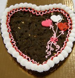 chocolate heart cookie cake