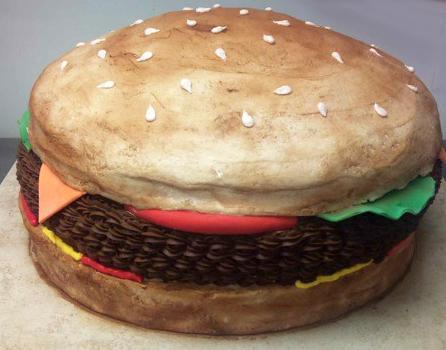 Adult Hamburger Cake