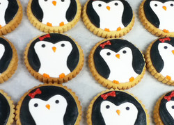 penguin Royal Iced Cookies