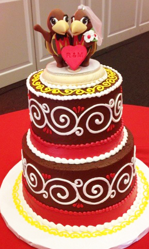 Sports Theme Elegant Wedding Cake