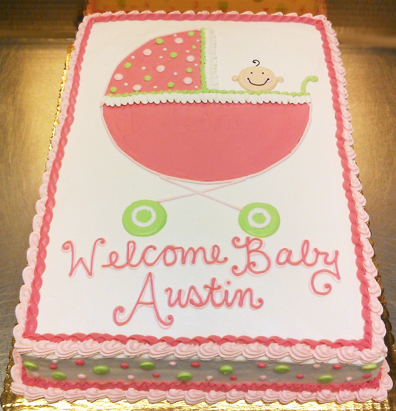 Baby Shower Baby Carriage Cake