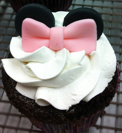 mouse ears cupcake