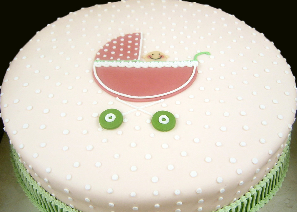 Baby Shower Baby Carriage III Cake