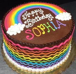 Girl Rainbow Cake