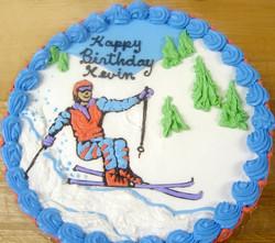 Boy Ski Theme Cake