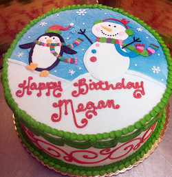 Girl Winter Scene Cake