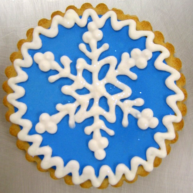Holiday Snowflake Royal Iced Cookies