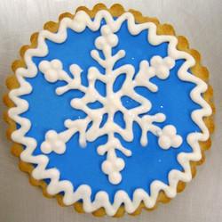 Holiday Snowflake Royal Iced Cookies