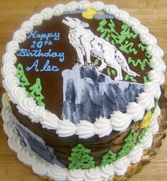 Boy Wolf Cake
