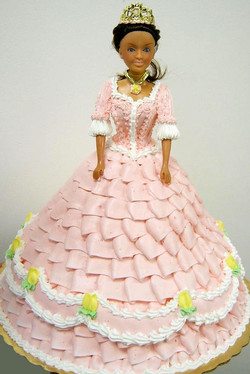 Girl Sculpted Doll Cake