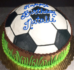 Girl Scuplted Soccer Theme Cake