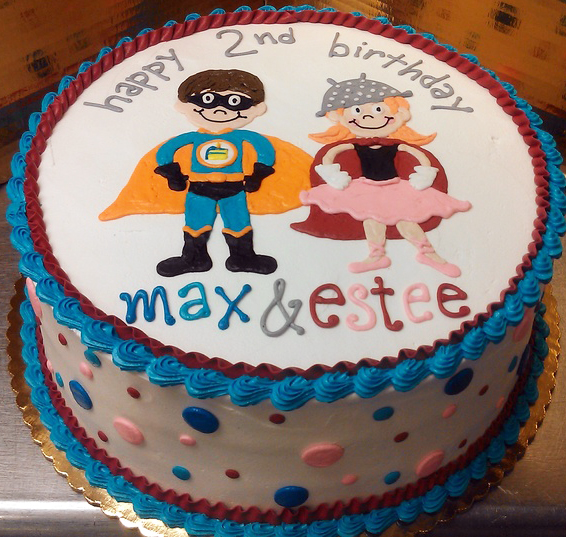 Male/Female Super Hero Cake