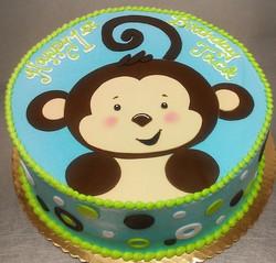 Boy Monkey Cake