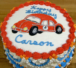 Boy VW Car Cake