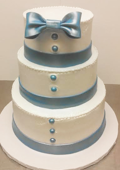 Elegant Masculine Wedding Cake