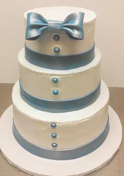 Elegant Masculine Wedding Cake