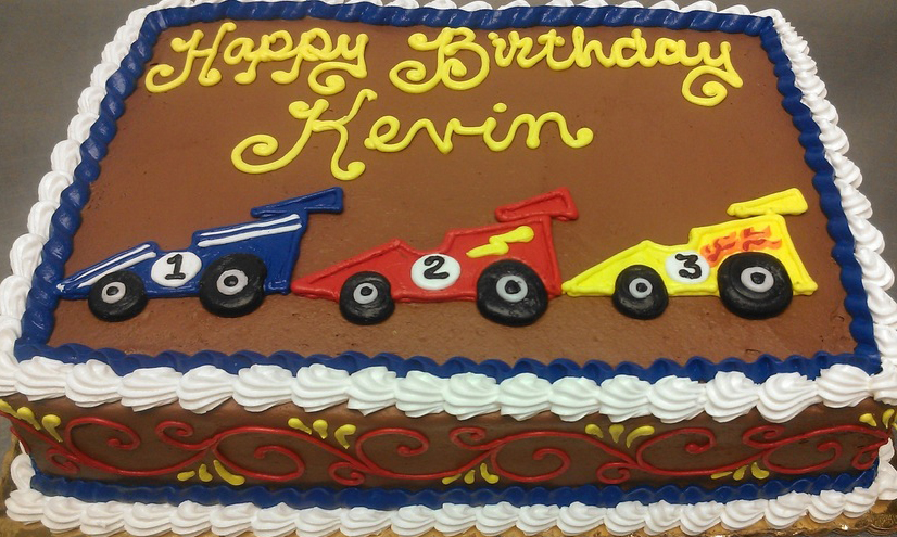 Boy Racecar III Cake