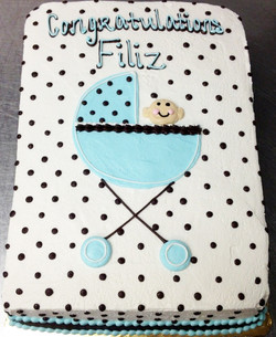 Baby Shower Baby Carriage II Cake