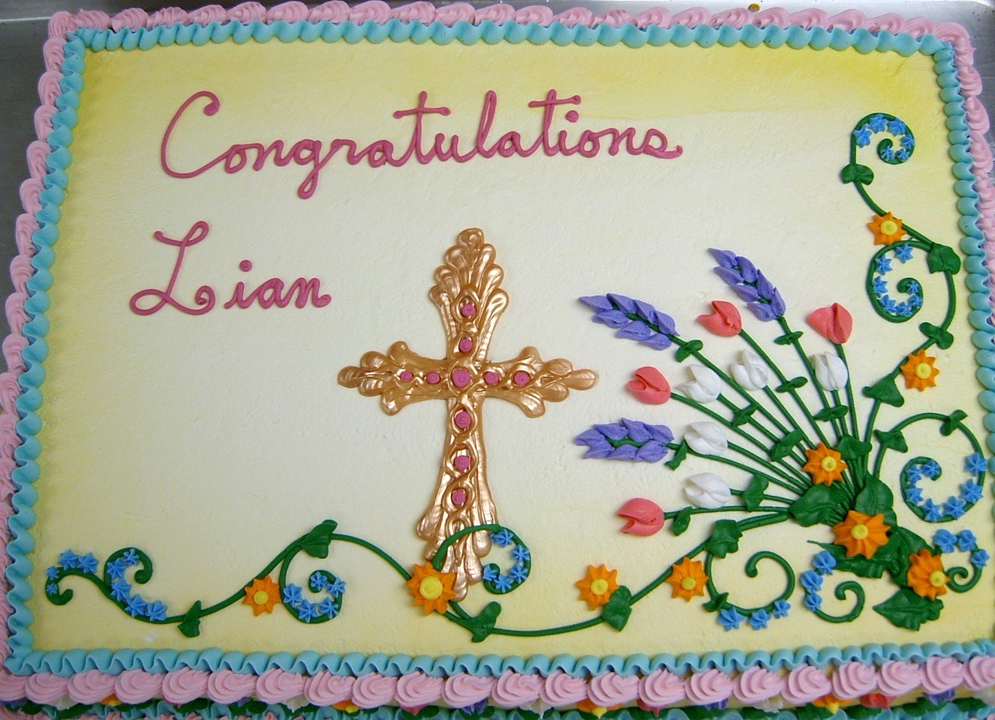 Religious Candy Melt Cross II Cake