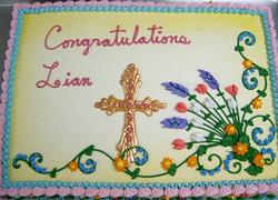 Religious Candy Melt Cross II Cake