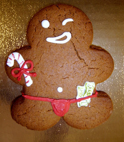 Gingerbread decorated cookie