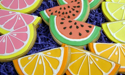 Citrus Fruit Royal Iced Cookies