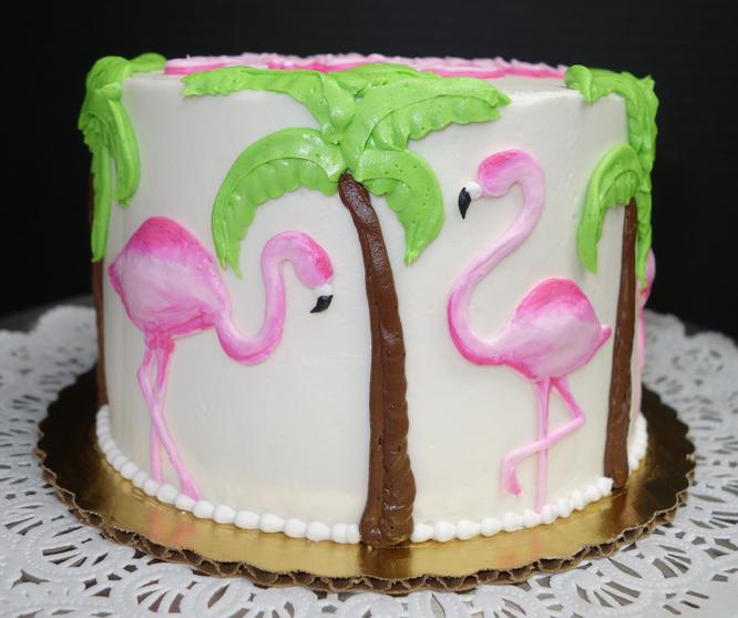 Adult Pink Flamingo Cake