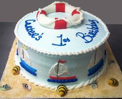 Boy Sailboat Theme Cake