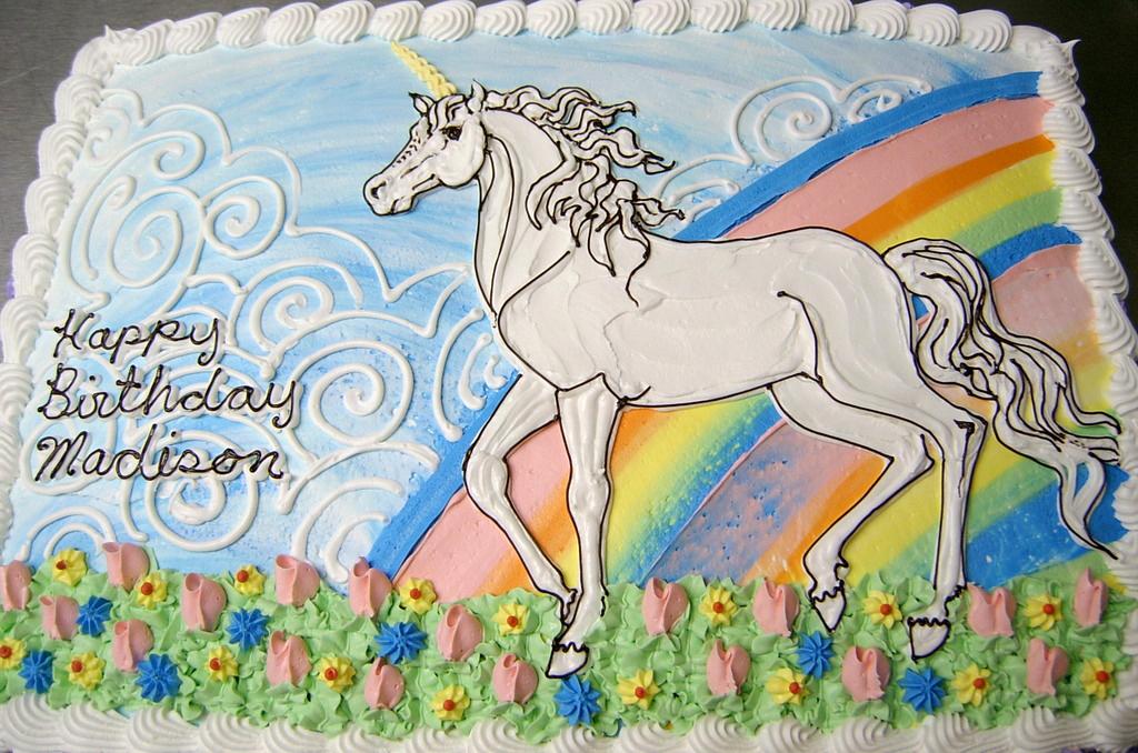 Girl Unicorn Theme Cake