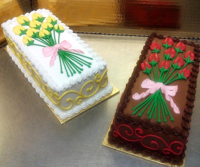 spring flowers cakes