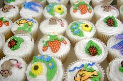 springtime decorated cupcakes