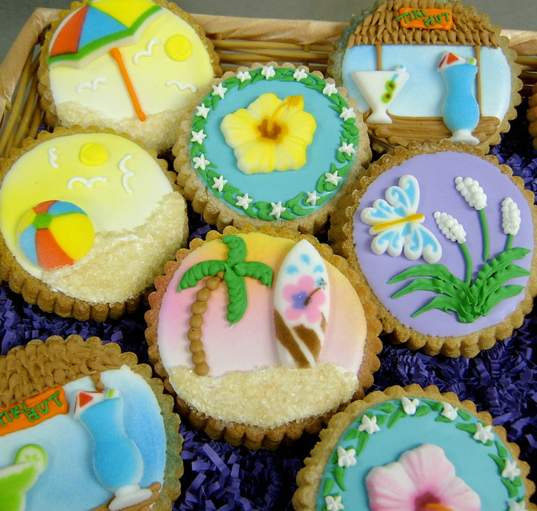 Beach Theme Royal Iced Cookies
