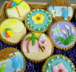 Beach Theme Royal Iced Cookies