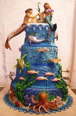 Under the Sea Wedding Cake