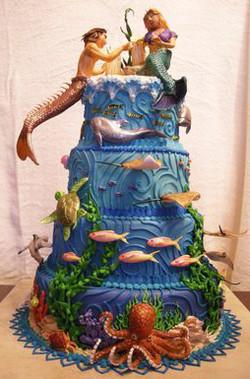 Under the Sea Wedding Cake