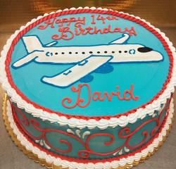 Boy Airplane Cake